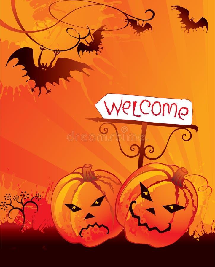 Carta di benvenuto di Halloween illustrazione vettoriale