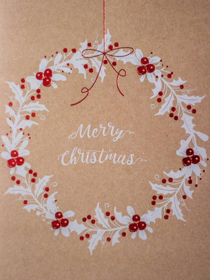 Carta di Buon Natale fotografia stock libera da diritti