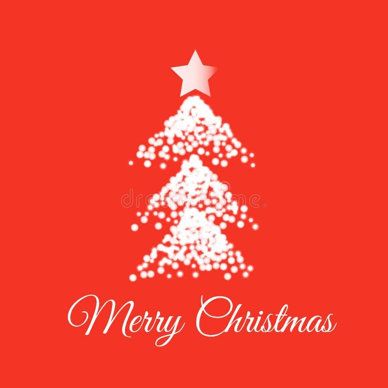 Carta di Buon Natale Illustrazione di vettore illustrazione di stock