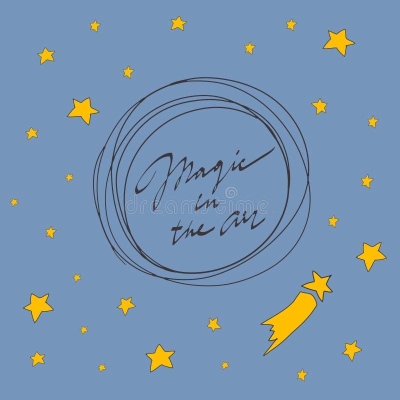 Carta di Buon Natale Magia nell'aria Illustrazione di vettore immagine stock libera da diritti