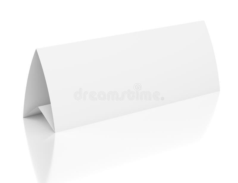 carta di carta della tabella in bianco 3d su bianco illustrazione vettoriale