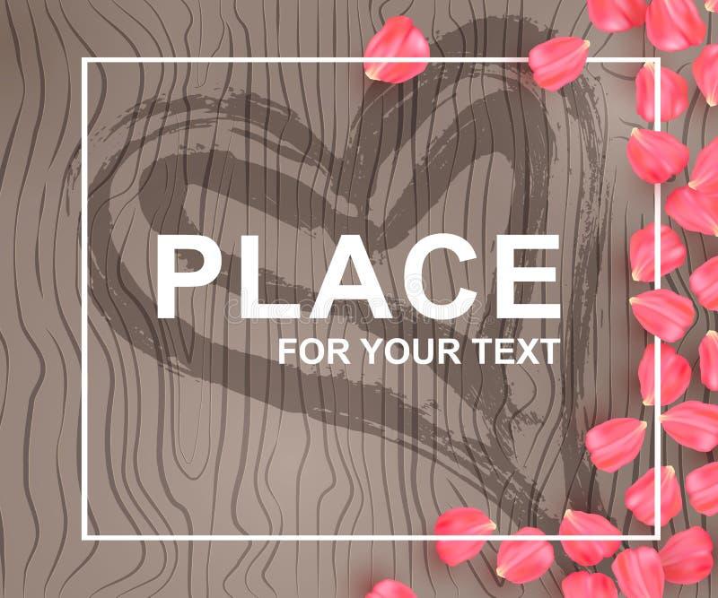 Carta di celebrazione per il biglietto di S. Valentino manifesto royalty illustrazione gratis