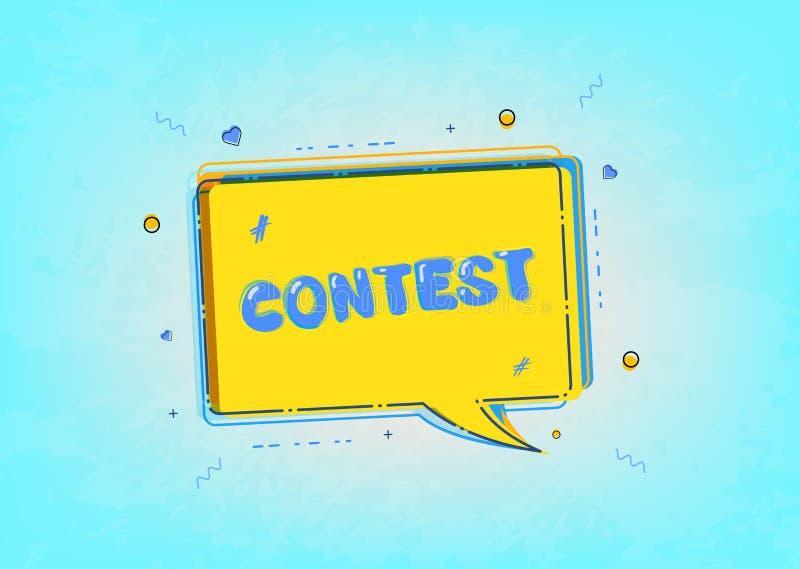 Carta di concorso Illustrazione di vettore royalty illustrazione gratis