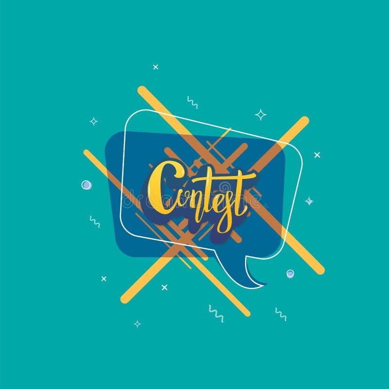 Carta di concorso Insegna con gli elementi decorativi Illustrazione di vettore illustrazione di stock