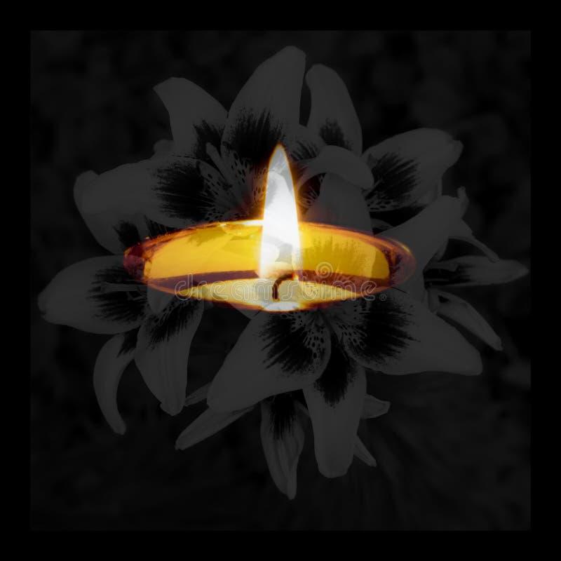Carta di condoglianza Giornata della memoria che si addolora pace funerea commemorativa fotografia stock