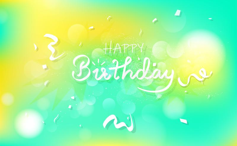 Carta di congratulazione e di buon compleanno, callig del partito di celebrazione illustrazione di stock