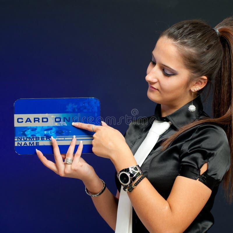 Carta di credito fotografia stock