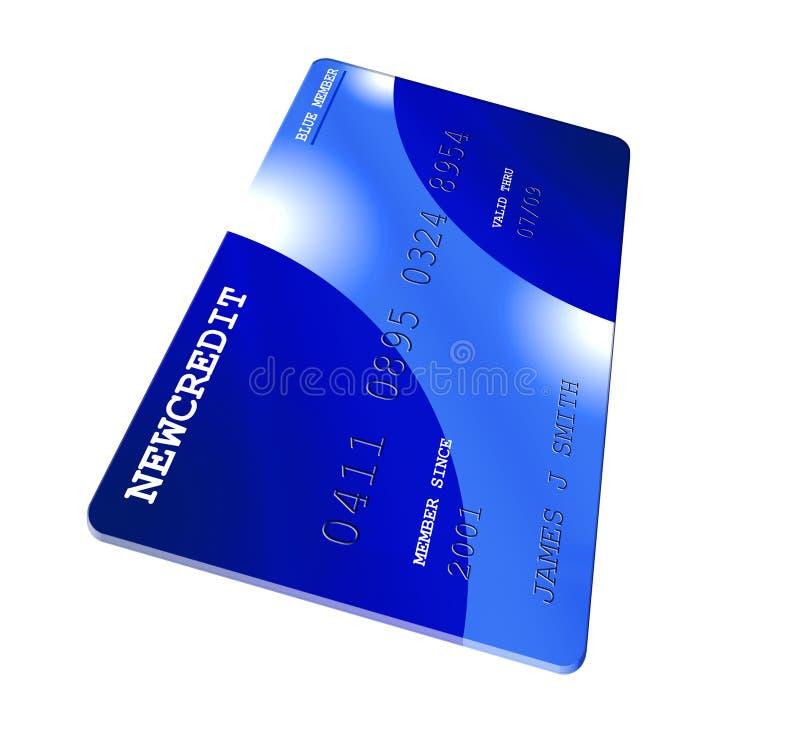 Carta di credito blu illustrazione di stock
