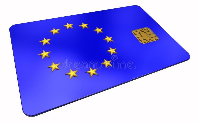Carta di credito con l'unione europea 2 di simbolo fotografia stock