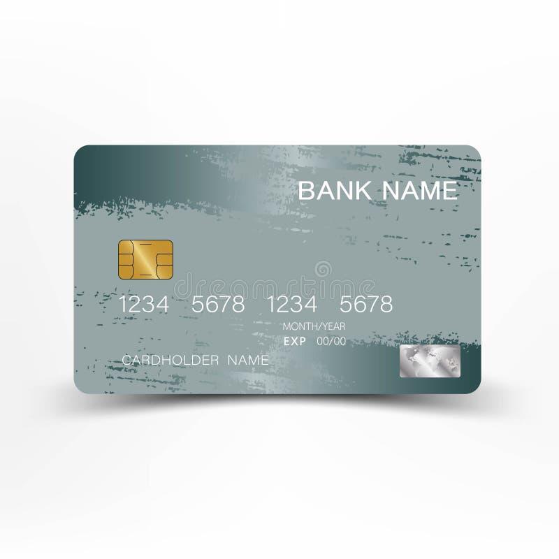 Carta di credito d'argento lussuosa Fondo illustrazione vettoriale