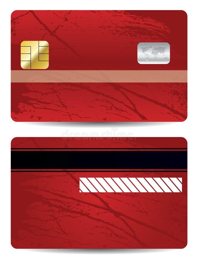 Carta di credito di Grunge illustrazione di stock