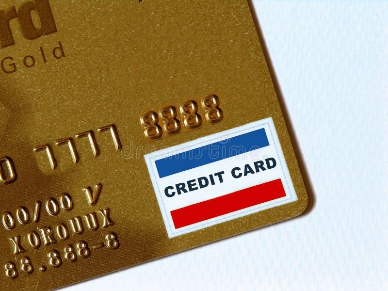 Carta di credito dorata immagini stock