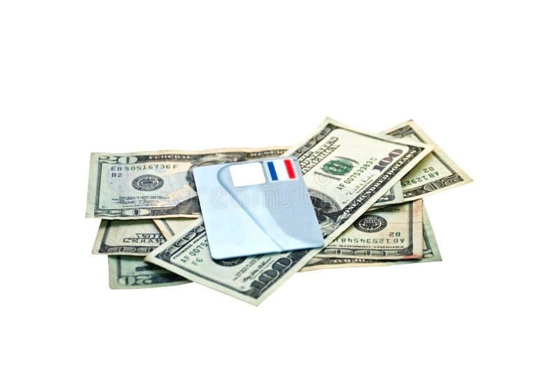 Carta di credito e dei soldi immagine stock