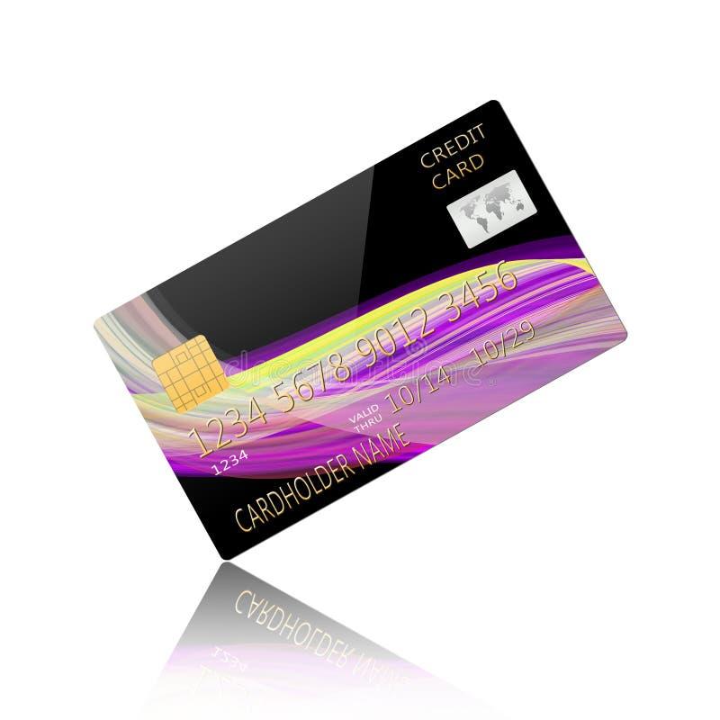 Carta di credito isolata su background illustrazione di stock