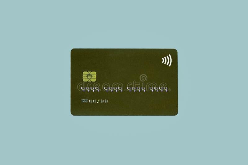 Carta di credito di Noname o carta di attività bancarie con il chip nessun diretto valido di numero e della data di identificazio immagini stock libere da diritti