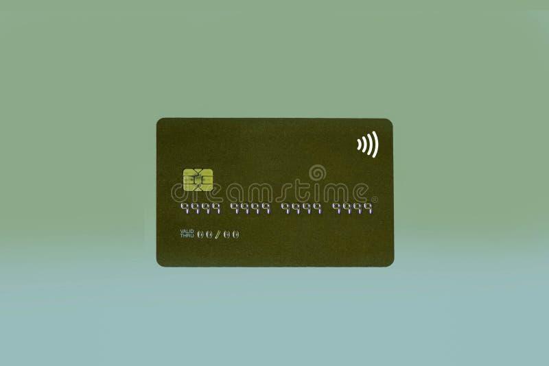 Carta di credito di Noname o carta di attività bancarie con il chip nessun diretto valido di numero e della data di identificazio fotografia stock libera da diritti