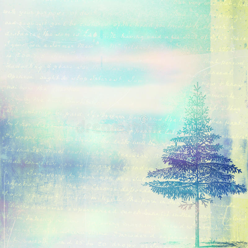 Carta di Digital di Natale illustrazione di stock