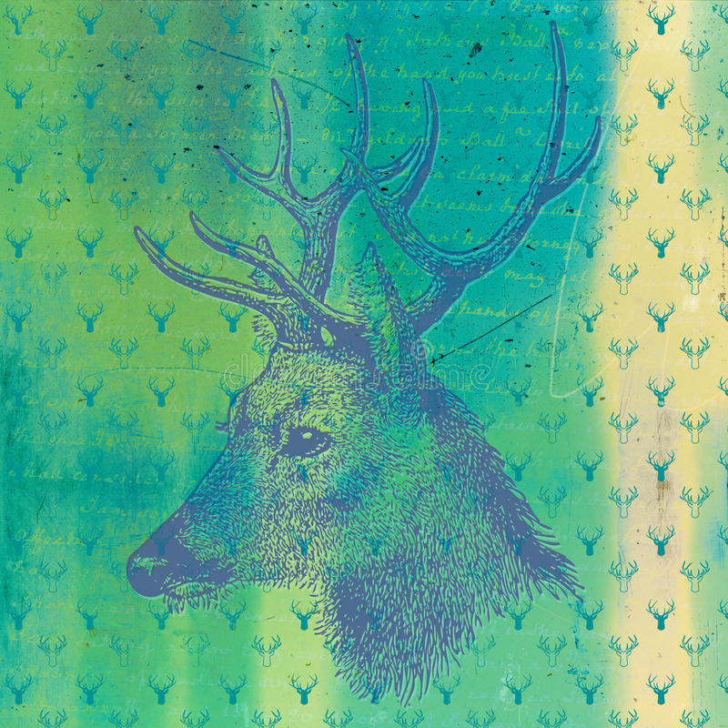 Carta di Digital di Natale illustrazione vettoriale