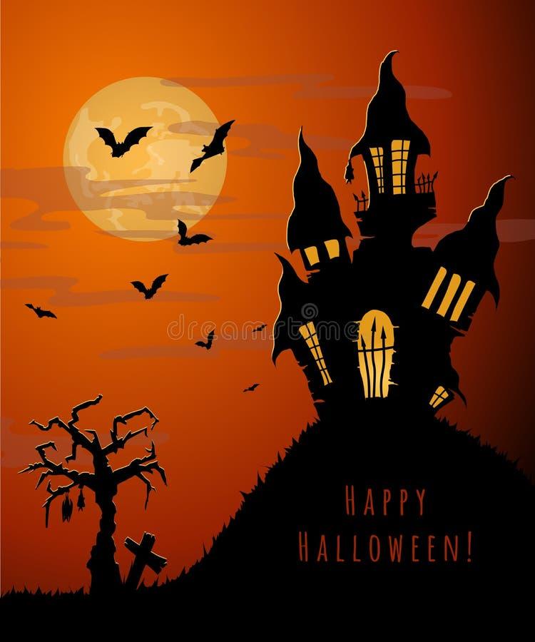Carta di festa di Halloween illustrazione vettoriale