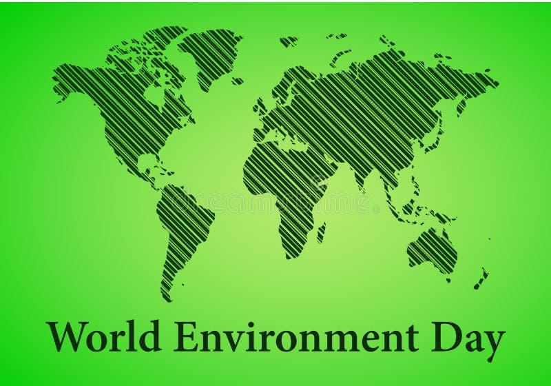 Carta di Giornata mondiale dell'ambiente Illustrazione di vettore illustrazione vettoriale