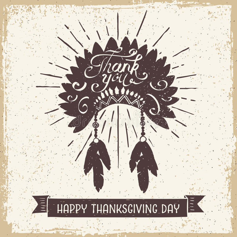 Carta di giorno di ringraziamento illustrazione vettoriale