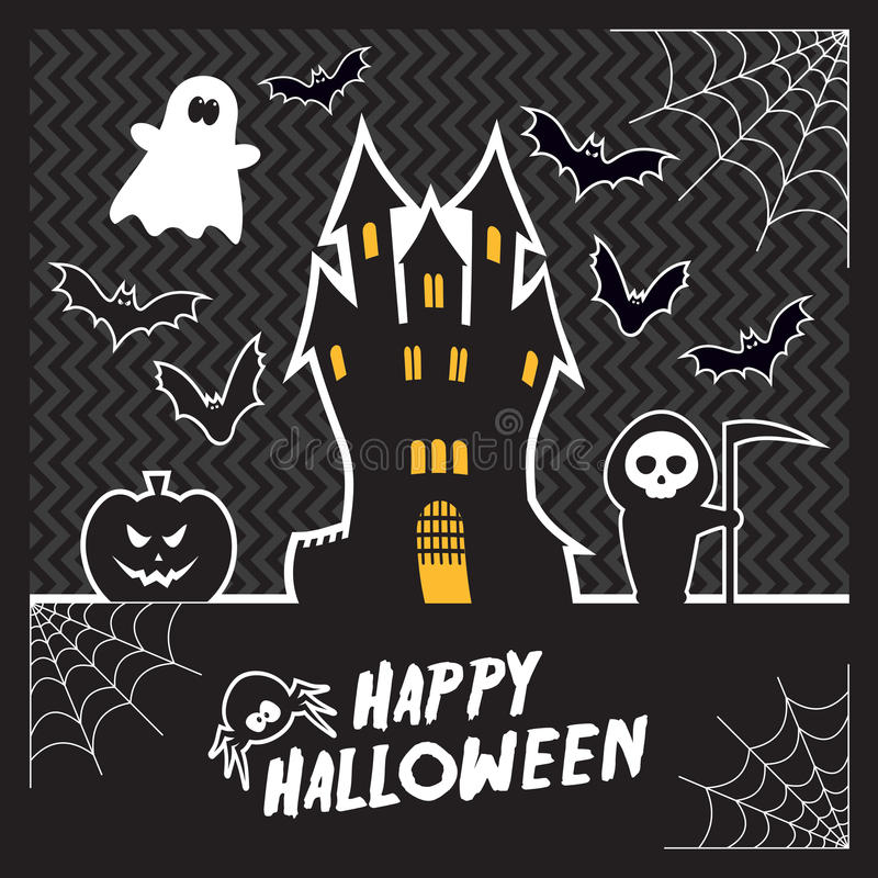 Carta di Halloween di vettore immagine stock