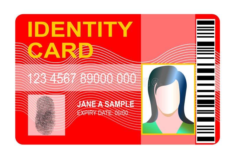 Carta di identità standard royalty illustrazione gratis