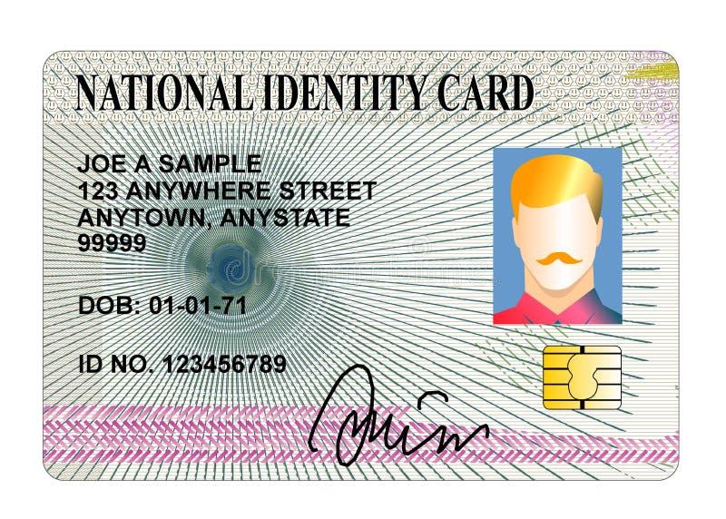Carta di identità standard illustrazione vettoriale