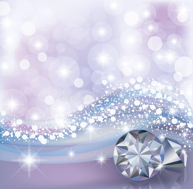 Carta di inverno con i diamanti illustrazione di stock