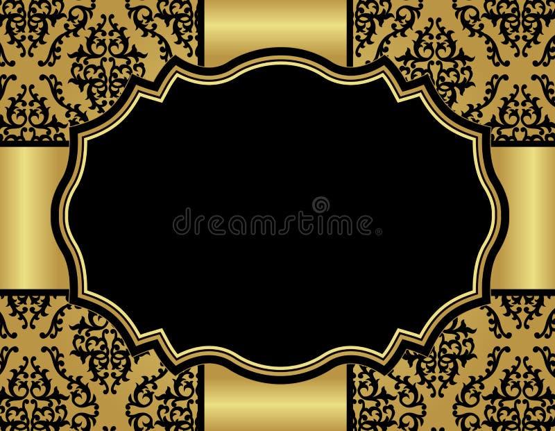 Download Carta Di Lusso Dell'invito Con Il Modello Senza Cuciture Del Damasco Illustrazione Vettoriale - Illustrazione di modo, artistico: 30828779