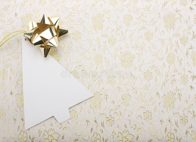 Carta di nota di Natale fotografia stock