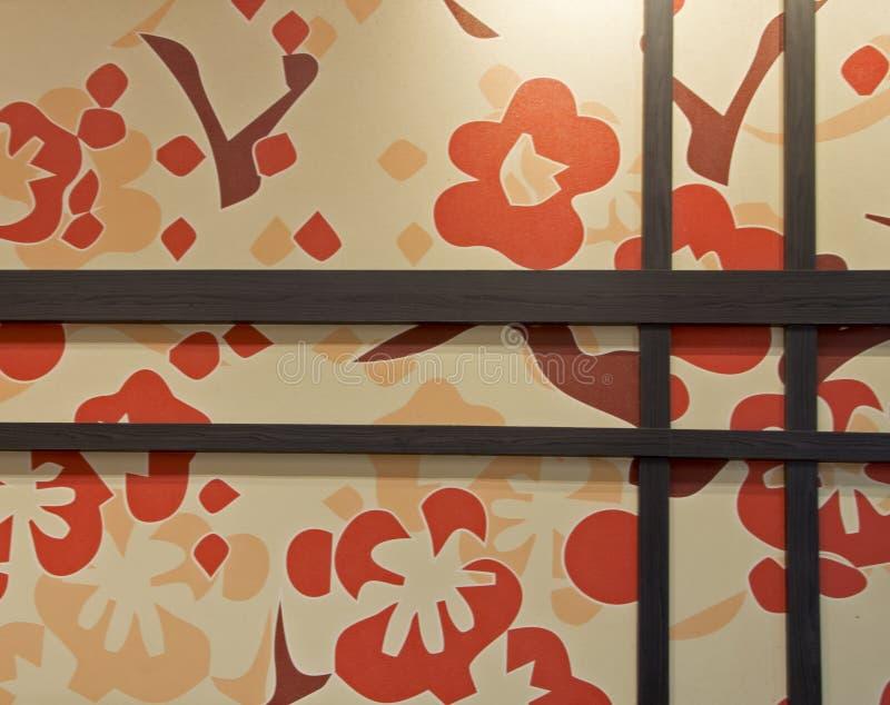 Carta di parete con la struttura di legno fotografia stock