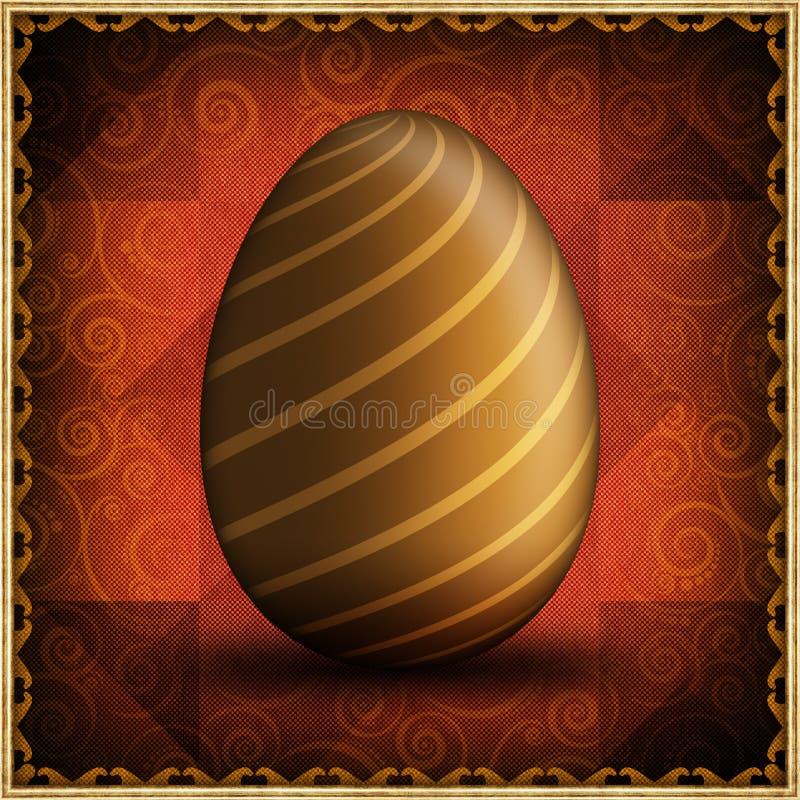 Carta di pasqua felice - uovo di Pasqua dorato royalty illustrazione gratis