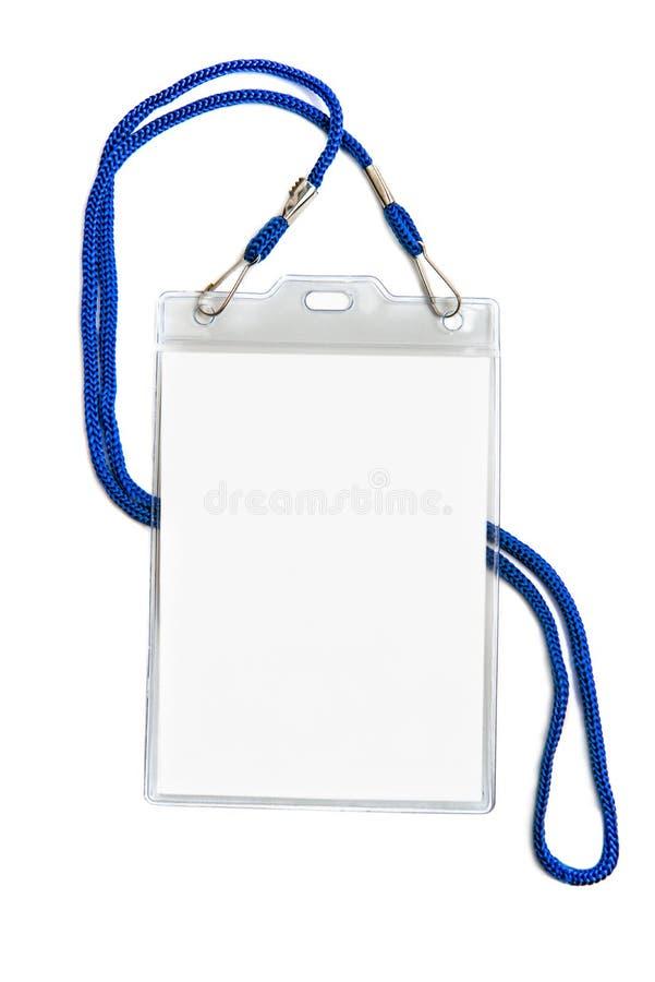 Carta di plastica di identificazione dello spazio in bianco del modello del modello dell'identificazione del distintivo immagine stock libera da diritti