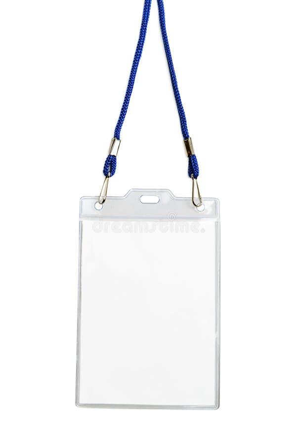 Carta di plastica di identificazione dello spazio in bianco del modello del modello dell'identificazione del distintivo fotografie stock