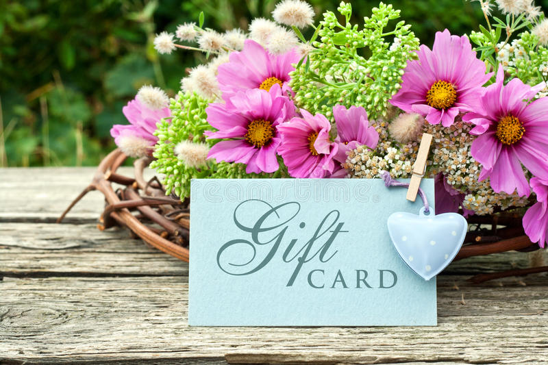 Carta di regalo fotografia stock