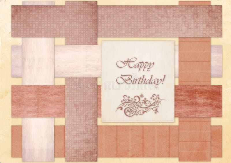 """Carta di regalo con i quadrati di colore e compleanno dell'iscrizione """"il buon! """" illustrazione di stock"""