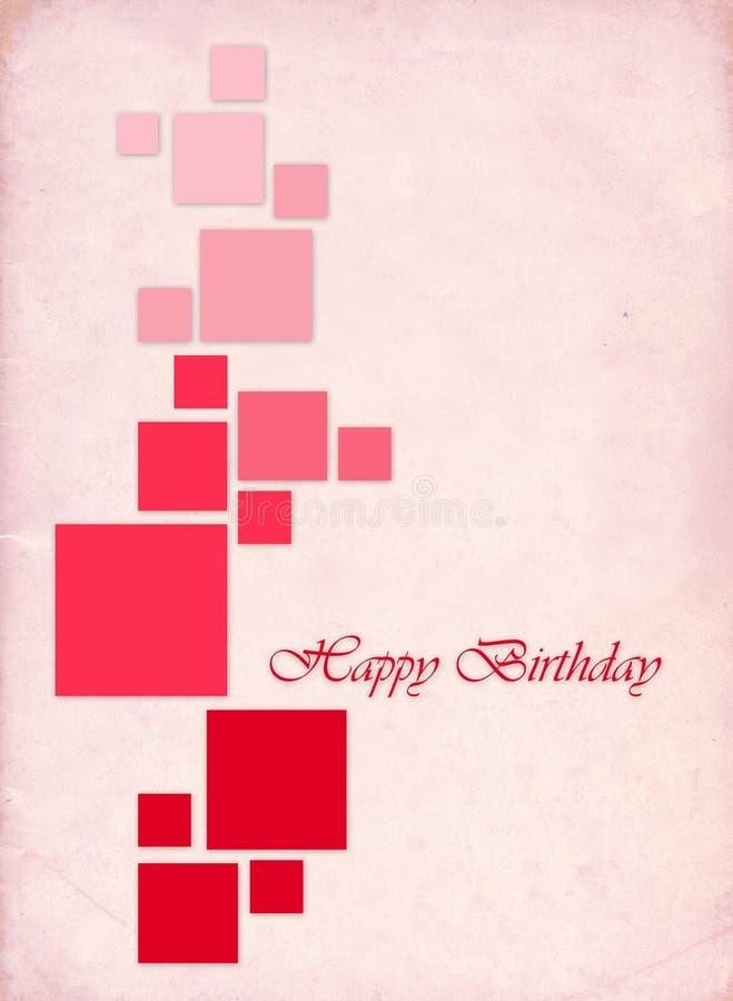 """Carta di regalo con i quadrati di colore e compleanno dell'iscrizione """"il buon! """" illustrazione vettoriale"""