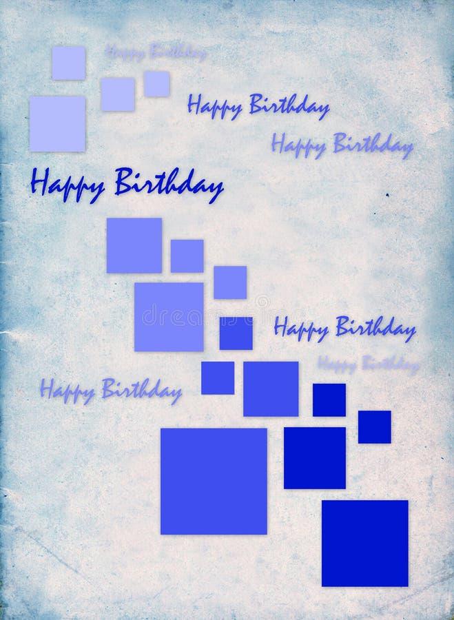 """Carta di regalo con i quadrati di colore e compleanno dell'iscrizione """"il buon! """" royalty illustrazione gratis"""
