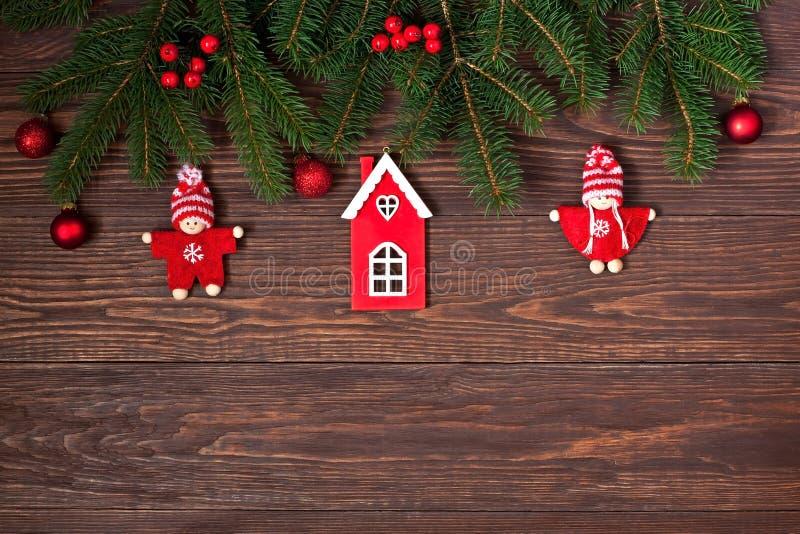 Carta di regalo di Natale con la composizione in festa immagine stock libera da diritti