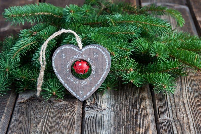 Carta di regalo di Natale con la composizione in festa fotografia stock libera da diritti