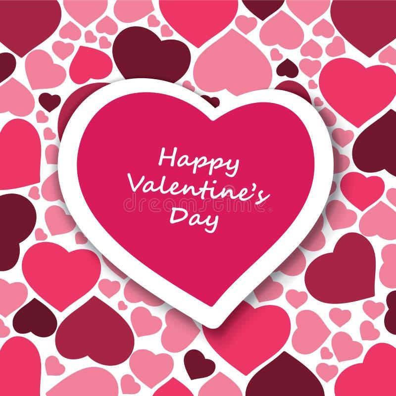 Carta di San Valentino illustrazione vettoriale