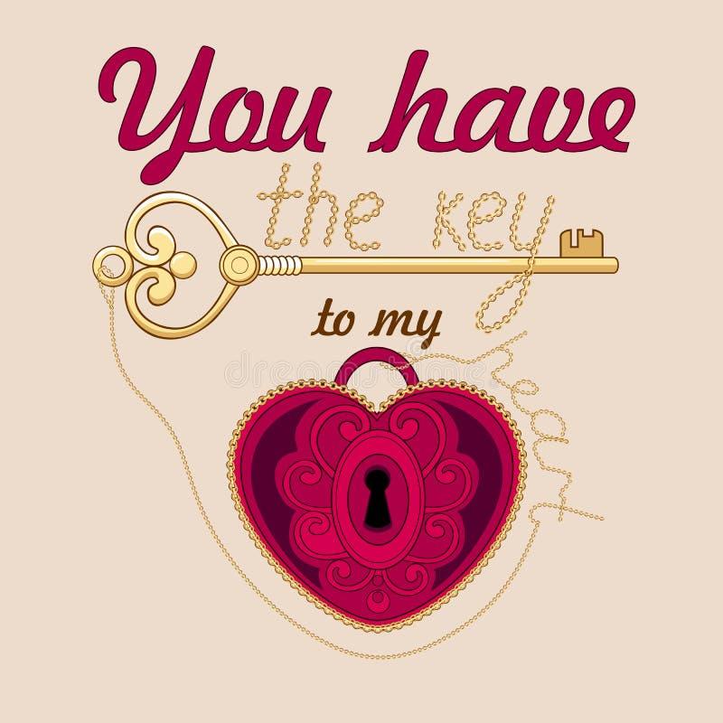 Carta di San Valentino illustrazione di stock
