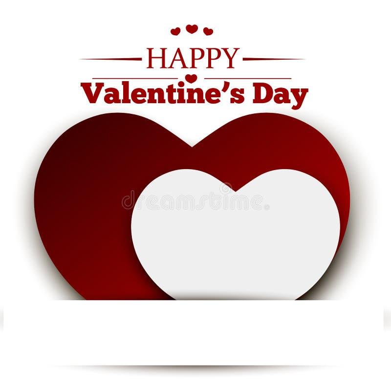 Carta di San Valentino, illustrazione di vettore immagini stock libere da diritti