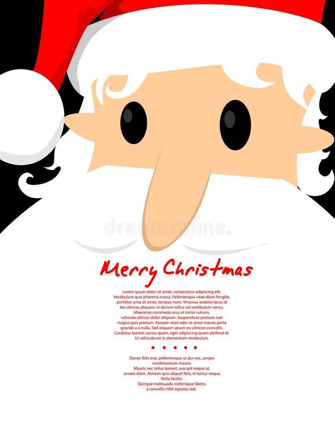 Carta di Santa di Buon Natale royalty illustrazione gratis