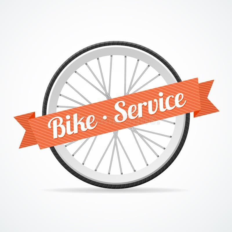 Carta di servizio della bici di vettore illustrazione vettoriale