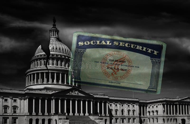 Carta di sicurezza sociale di CC immagini stock