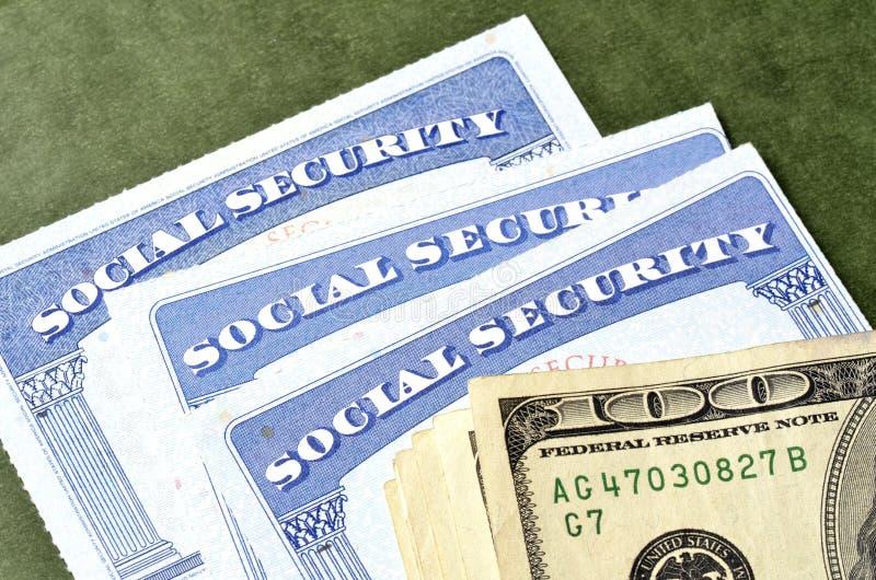 Carta di sicurezza sociale per identificazione fotografia stock libera da diritti