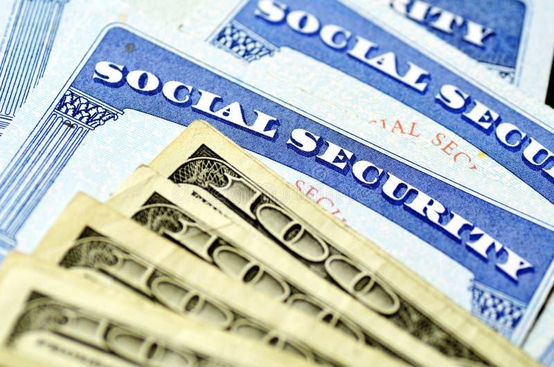 Carta di sicurezza sociale per identificazione immagini stock libere da diritti