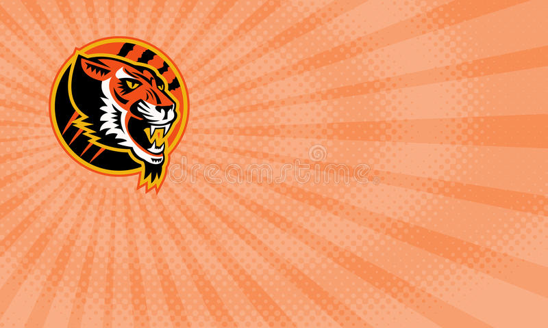 Carta di Tiger Athletics Business illustrazione vettoriale